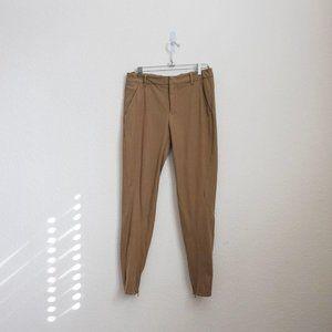 Prada tan stretch pencil cropped trouser pants